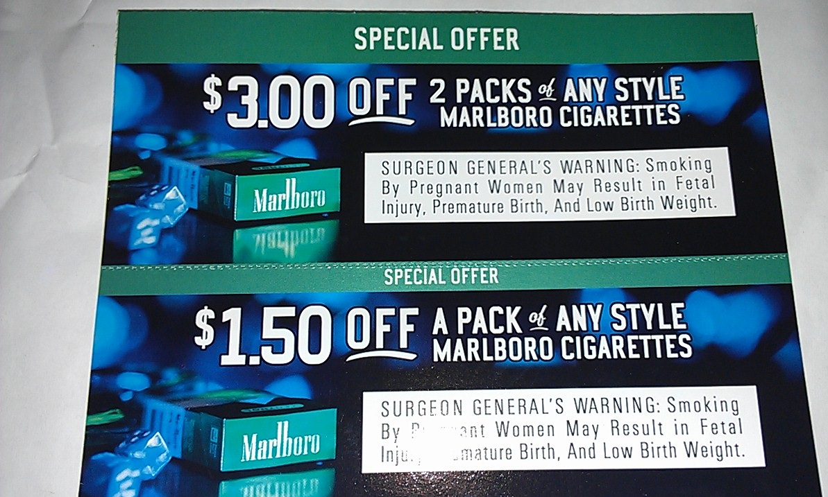 It's just a photo of Ridiculous In Store Cigarette Coupons